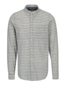 Krémová pánska pruhovaná košeľa Garcia Jeans