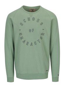 Bluza sport verde deschis cu print pentru barbati - Garcia Jeans