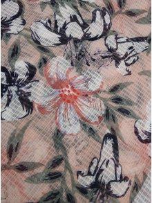 Modro-růžový květovaný šátek Pieces Marcia