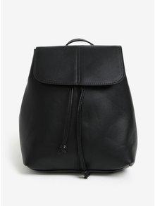 Čierny koženkový batoh Pieces Minna