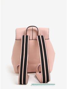 Ružový koženkový batoh Pieces Minna