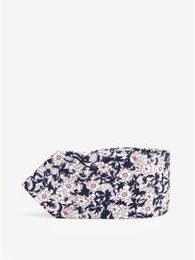 Cravata alba din matase cu print floral - Jack & Jones Premium Crussel