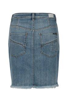 Fusta din denim cu buzunare- Garcia Jeans