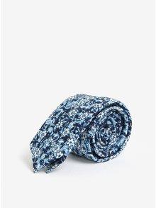 Světle modrá květovaná kravata Jack & Jones Premium Crussel