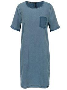 Rochie tricou albastra cu aspect contrastant -  Garcia Jeans