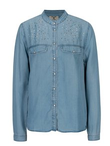Modrá dámska košeľa s aplikáciou Garcia Jeans