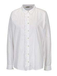 Biela dámska košeľa s volánom Garcia Jeans