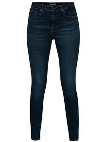 Blugi skinny albastri cu talie inalta pentru femei - Levi's®
