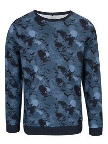 Bluza albastra cu print abstract - Blend