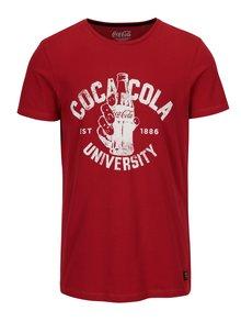 Červené slim fit tričko s potiskem Blend