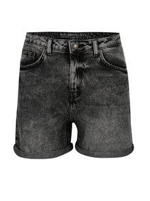 Černé džínové kraťasy s vysokým pasem Noisy May Be liv