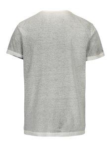 Šedé tričko s potiskem lebky Blend