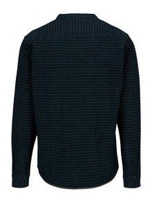 Tmavomodrá pruhovaná regular fit košeľa Blend