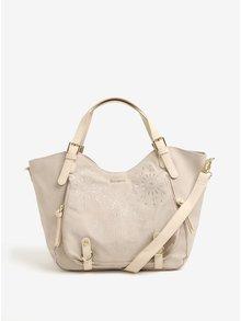 Béžová kabelka s výšivkou Desigual Caliope