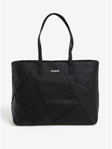 Čierna vzorovaná kabelka Desigual Halley