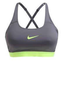 Sivá športová podprsenka Nike Classic Strappy Bra