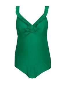 Zelené tehotenské plavky s volánmi Mama.licious Nada