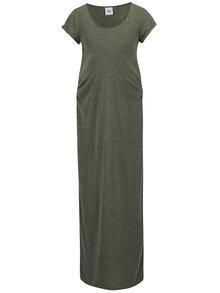 Zelené žíhané těhotenské maxi šaty Mama.licious Nella
