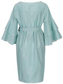 Zeleno–biele pruhované tehotenský šaty s opaskom Mama.licious Nelia