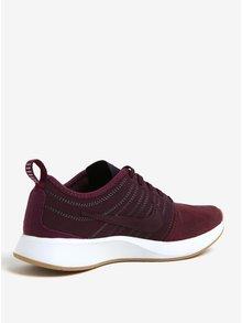 Pantofi sport bordo din piele intoarsa pentru femei Nike Dualtone Racer SE