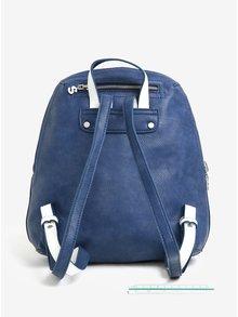Modro-krémový obojstranný batoh s výšivkou Desigual Trip Madeira