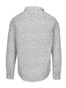 Bílá vzorovaná slim fit košile ONLY & SONS Newton