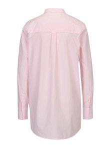 Bielo-ružová dlhá pruhovaná košeľa ONLY Sapelin