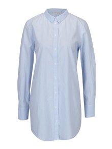 Bielo-modrá dlhá pruhovaná košeľa ONLY Sapelin