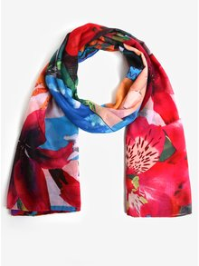 Esarfa cu print floral multicolor Desigual Chrystal