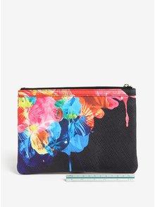 Čierna listová kabelka s kvetinovou potlačou Desigual Corel