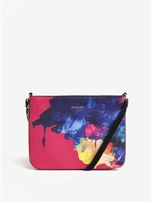 Ružová crossbody kabelka s potlačou Desigual Corel Molina
