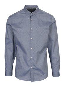Svetlomodrá vzorovaná slim fit košeľa Jack & Jones Premium Samson
