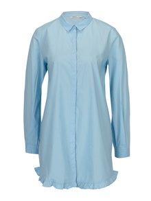 Modrá dlouhá áčková košile ONLY Monique