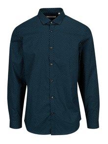 Tmavomodrá vzorovaná slim fit košeľa Jack & Jones Premium Samson