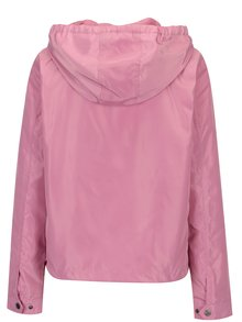 Jacheta roz cu gluga si buzunare - ONLY City