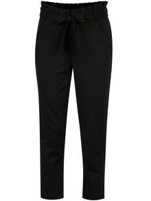 Čierne nohavice so zaväzovaním v páse ONLY Oliva