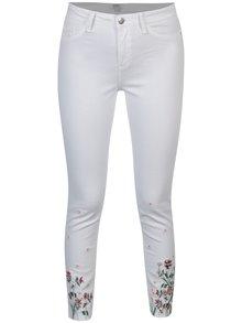 Bílé skinny džíny s výšivkou Dorothy Perkins