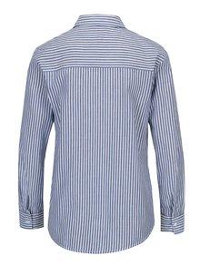 Modrá pruhovaná košile s výšivkou Dorothy Perkins Petite