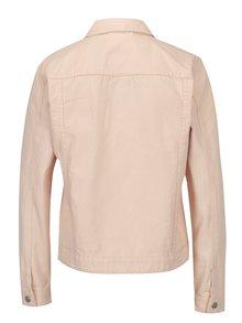 Jacheta din denim roz pal cu buzunare - VILA Jules