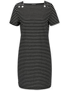Čierne pruhované šaty VILA Sonja