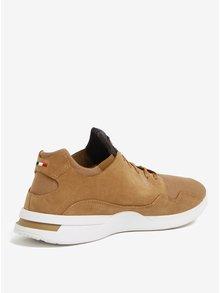 Pantofi sport maro din piele intoarsa si textil pentru barbati - Le Coq Sportif Pure Heavy