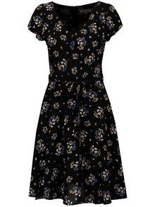 Čierne kvetované šaty Billie & Blossom