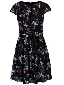 Tmavomodré vzorované šaty Billie & Blossom Petite