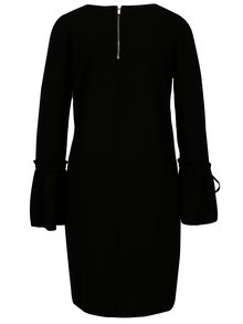 Čierne šaty s volánmi na rukávoch VILA Bekky