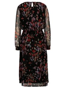 Čierne kvetované šaty s dlhým rukávom VILA Roba