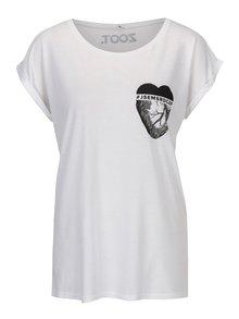 Bílé dámské bambusové tričko ZOOT Original Jsem srdcař