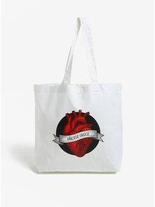 Krémová plátěná taška ZOOT Originál Převoz srdce