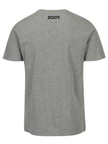 Sivé pánske melírované tričko s potlačou ZOOT Original MCH
