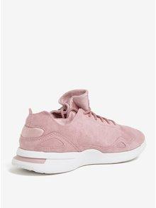Pantofi sport roz din piele intoarsa pentru femei - Le Coq Sportif Flow