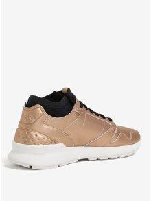 Pantofi sport auriu metalic pentru femei - Le Coq Sportif Omicron Lea Metallic